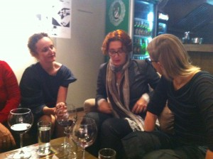 "Kym, Jasmina and Jasmila after the premier screening of ""For Those Who Tell No Tales"" in Sarajevo."